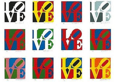 work by Robert Indiana - The Book of Love