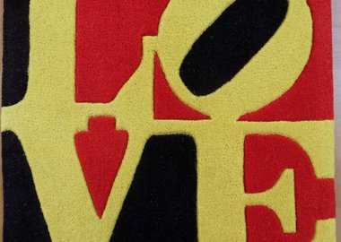 Robert Indiana - Liebe LOVE (Red, Yellow and Black)
