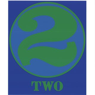 Robert Indiana, Number Two Green and Blue
