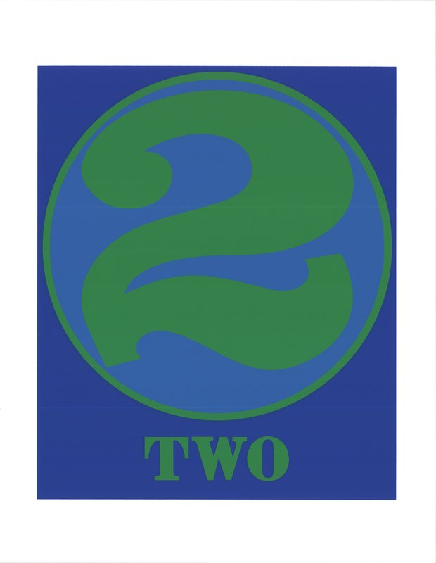 by robert_indiana - Number Two Green and Blue