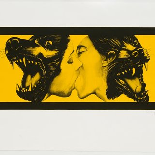 Robert Longo, Strong in Love (Yellow)