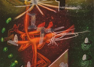 work by Roberto Matta - Je Fixe des Vertiges (plate 1) from the Saison ...