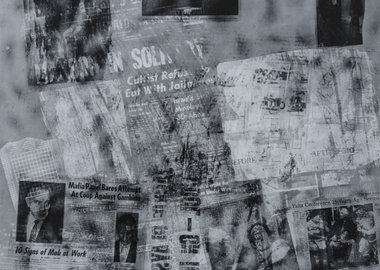 Robert Rauschenberg - Surface Series from Currents #42