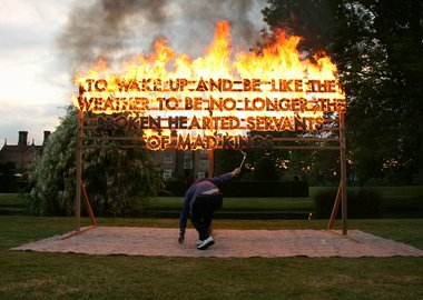 work by Robert Montgomery - Great Fosters Fire Poem