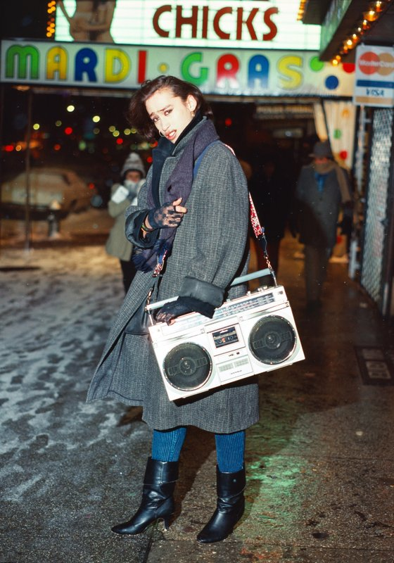 by robin-graubard - guy with boombox – Times Square