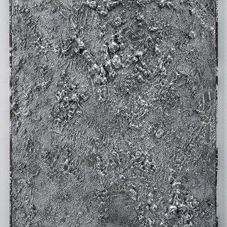 Untitled (silver texture piece flat II) art for sale