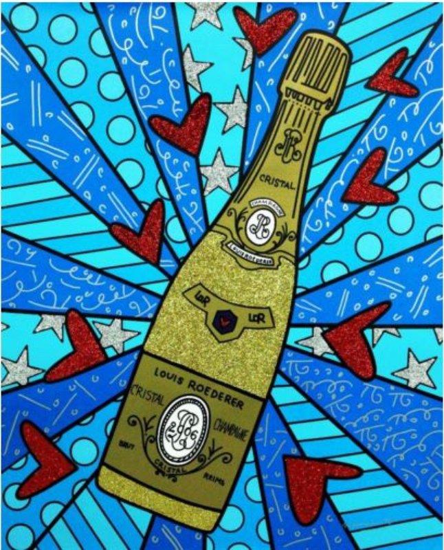 romero britto champagne wishes caviar dreams for sale artspace