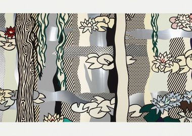 work by Roy Lichtenstein - Water Lilies with Willows (C. 266)