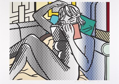work by Roy Lichtenstein - Nude Reading (C. 288)