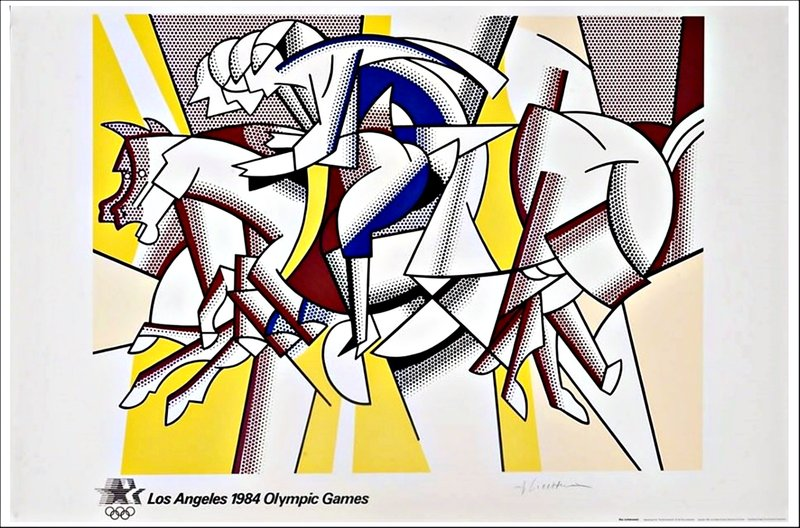 by roy_lichtenstein - The Red Horsemen, (aka The Equestrians) for Los Angeles 1984 Olympic Games