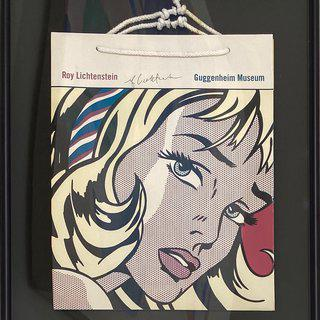Guggenheim Shopping Bag (girl with hair ribbon) art for sale