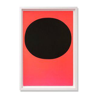 Black on Orange Red (from Modulation) art for sale