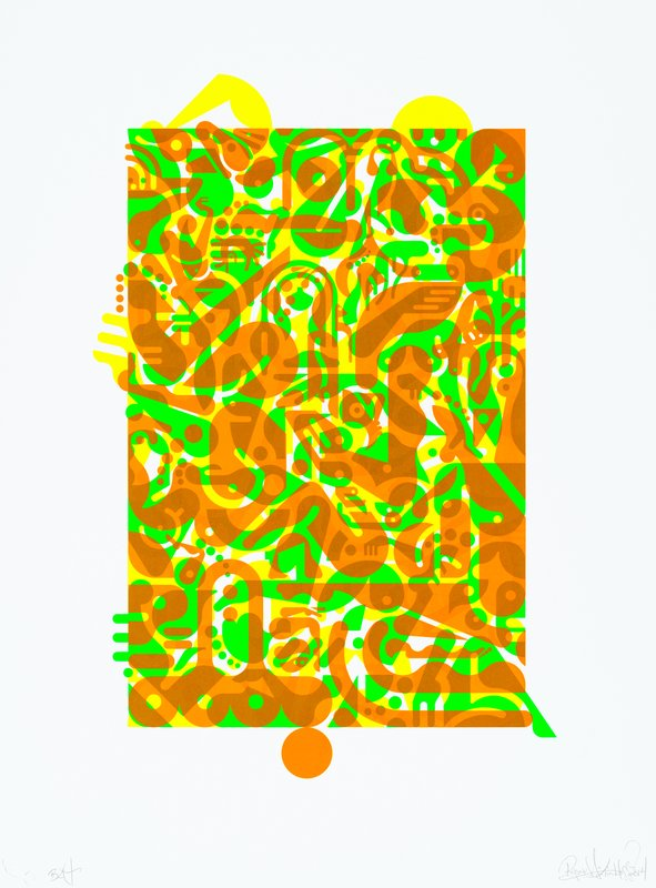 main work - Ryan McGinness, Untitled (Fluorescent Women Parts) 1