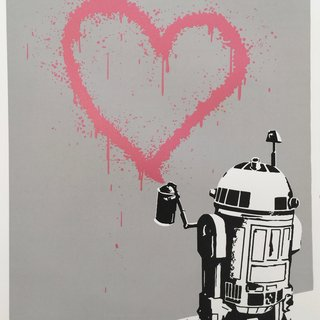 R2HEART2 (GLITTER GUM) art for sale