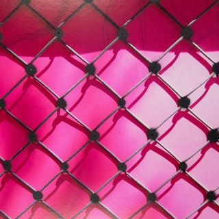 Untitled (Pink fence, black) art for sale