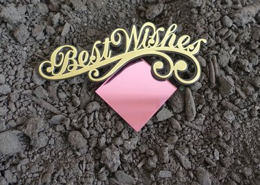 work by Sadie Barnette - Untitled (Best Wishes)