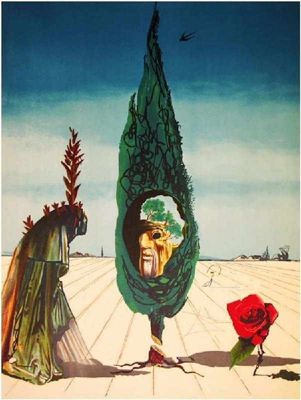 Salvador Dalí, Enigma of the Rose (Death) from Visions Surrealiste