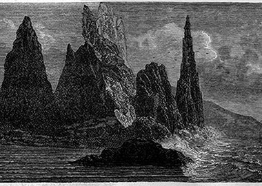 work by Salvatore Arancio - Black Dolerite Spires Protecting The Portion Of...