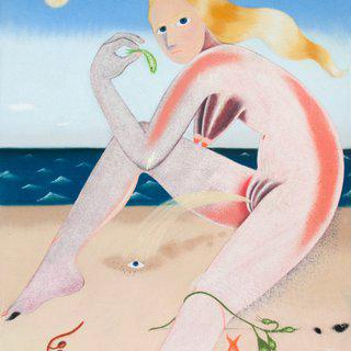 Venus at the beach art for sale