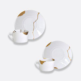 Kintsugi - Gift boxed set of 2 assorted breakfast cups and saucers art for sale
