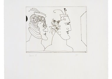 work by Saul Steinberg - Two Women