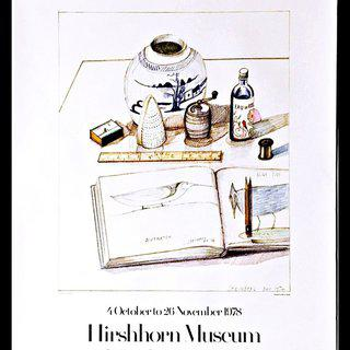 Hirshhorn Museum and Sculpture Garden Exhibition, Hand Signed & Inscribed art for sale
