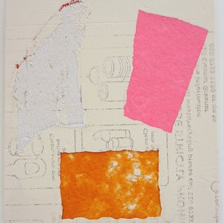 Domestic Bliss Fragment (white, pink, orange) art for sale