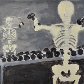Skeleton Bodybuilder art for sale