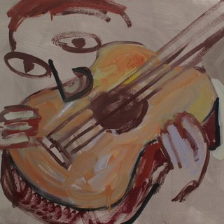Cubist Cokehead - Guitar Player art for sale
