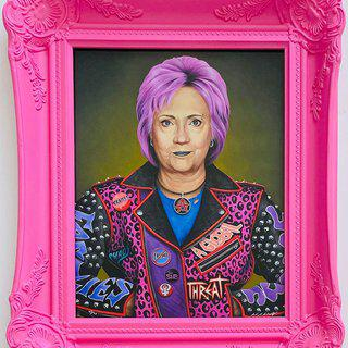 Punk Hillary art for sale
