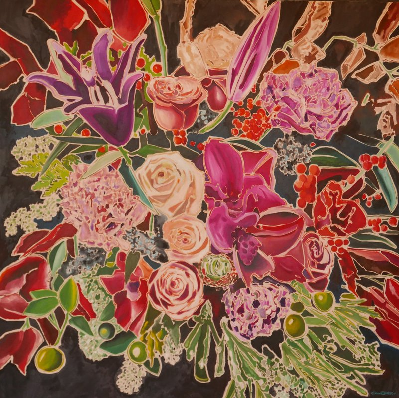 main work - Sean Barton, Untitled (Roses Carnations and Olives)
