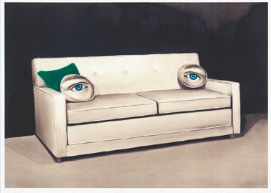 work by Sean Mellyn - King Size Sleeper (Blue Eyes)