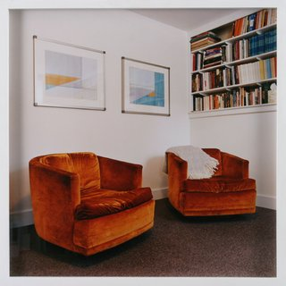 Lexington, MA: Office with burnt orange patients' chairs art for sale