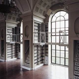 Boston Athenaeum:  Before Renovation - Fifth Floor Window and Bookcase art for sale