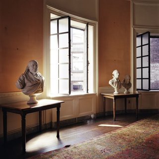 Boston Athenaeum: Before renovation - Trustee's Room with Three Busts art for sale