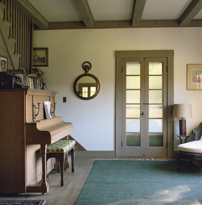 main work - Shellburne Thurber, Piano Room Porch Door and Round Mirror