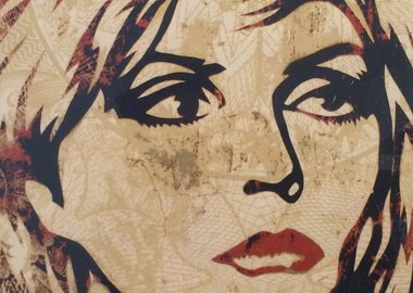 work by Shepard Fairey - Debbie Harry