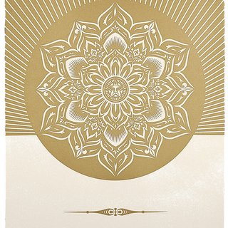 Obey Lotus Diamond (White & Gold) art for sale