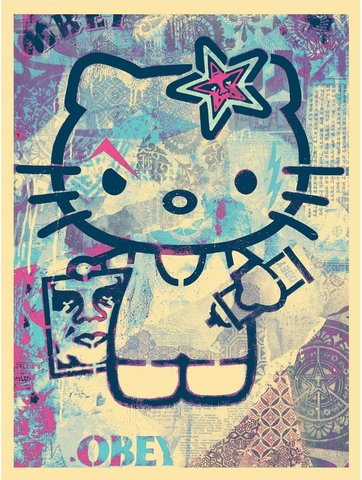 Shepard Fairey - Hello Kitty
