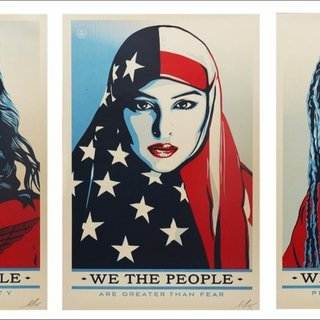 We the People, Suite of Three (3) Hand Signed Lithographs art for sale