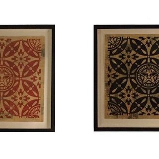 Japanese Pattern (Red) and Japanese Pattern (Black) art for sale