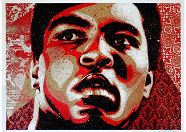 work by Shepard Fairey - Muhammad Ali
