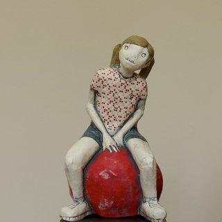 On A Red Ball IV art for sale