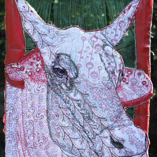 "Ox-Cow 05-13; ""Lady Cow"" art for sale"