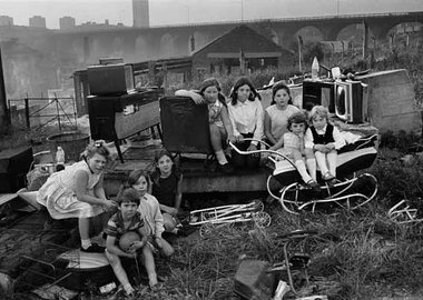 work by Sirkka-Liisa Konttinen - Kids with Collected Junk Near Byker Bridge, Byker