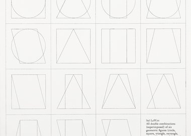 work by Sol LeWitt - six geometric figures superimposed in pairs