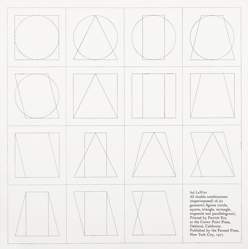 by sol_lewitt - six geometric figures superimposed in pairs