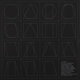 Sol LeWitt, six geometric figures superimposed in pairs