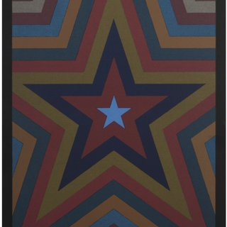 Five Pointed Star with Color Bands art for sale