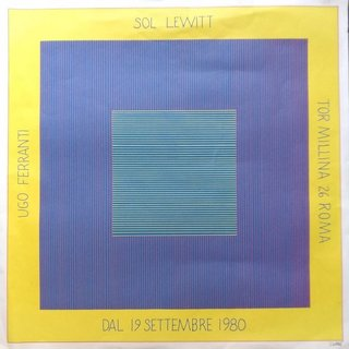 Sol Lewitt's Exhibition Poster art for sale